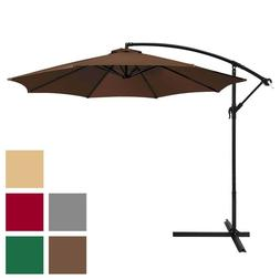 Best Choice 10 ft Umbrella Outdoor Patio Market Offset Hangi