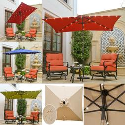 umbrellas 9ft solar powered 24 led lighted