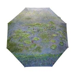 WIHVE Water Lilies Mone Paintings Umbrella Auto Open Close W